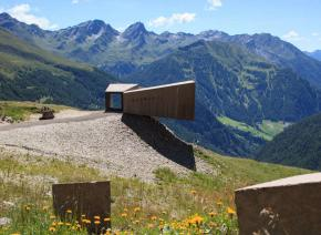 Observation platform Timmelsjoch High Alpine Road